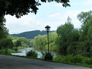 Sauer river in Belgium, Luxembourg and German border
