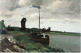 Barge on the Oise, Pontoise