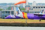 Flybe Dash 8s at London City Airport.jpg