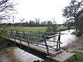 Footpath bridge over the River Dene - geograph.org.uk - 1771646.jpg