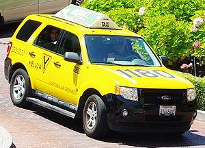 Hybrid taxi - Ford Escape Hybrid taxi in San Francisco.