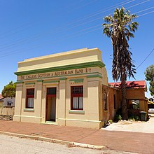 The former English, Scottish & Australian Bank building in Trayning, Western Australia in 2014