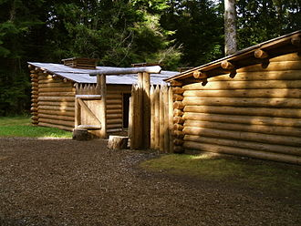 Lewis and Clark National and State Historical Parks - Fort Clatsop replica built in 2007