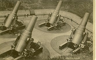 Harbor Defenses of Long Island Sound - 12-inch mortars, similar to those at Fort H. G. Wright and Fort Terry.