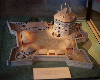 Fort Saint-Frédéric - Model of Fort Saint-Frédéric