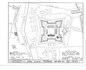 Fort Wayne (Detroit) - Original layout of Fort Wayne