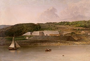 Seth and Mary Eastman - Painting of Fort Knox, Maine.