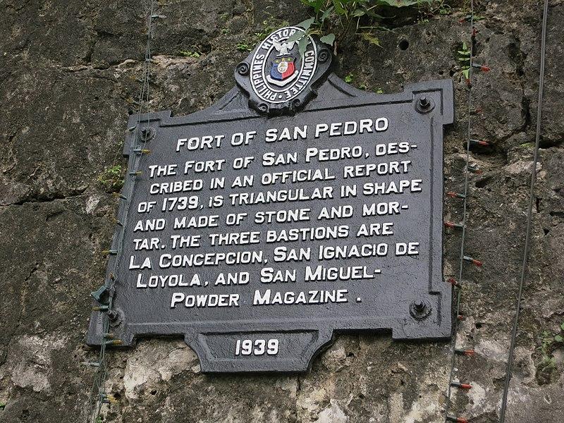 File:Fort of San Pedro historical marker.JPG