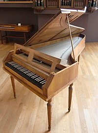 A fortepiano from the period