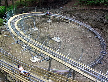 Alpine Coaster Trapper Slider, Fort Fun Abente...