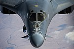 Forward fuselage of B-1B Lancer flying over Iraq Operation Inherent Resolve 151224-F-XD880-288.jpg
