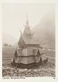 Fotografi av Borgunds kirke. Laerdal, Norge - Hallwylska museet - 105704.tif