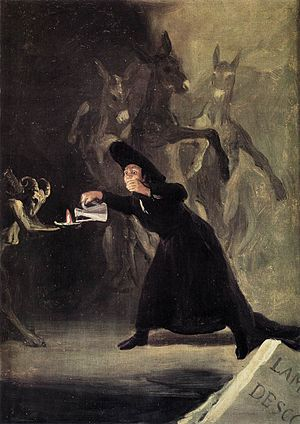 Witches' Sabbath (The Great He-Goat) - Goya, The Bewitched Man, 1798. National Gallery, London