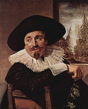 Isaac Massa - Portrait by Frans Hals, 1626
