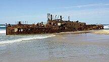 Fraser Island-Wreck of the Maheno-Fraser Island shipwreck of Maheno (ship 1905) IGP4364