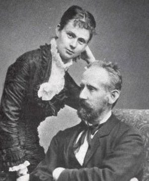 Wilhelm Hellesen - F. L .Wilhelm Hellesen and wife (circa 1890).