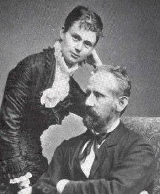 Wilhelm Hellesen - F. L .Wilhelm Hellesen and wife (circa 1890).