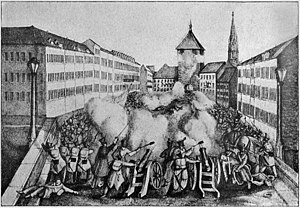 Storming of Freiburg - Storming of the barricades at the Breisach Gate