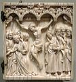 French Crucifixion, panel from ivory diptych, second half of 14th century, Honolulu Academy of Arts.JPG