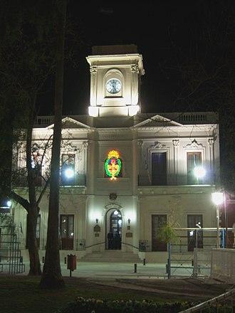 Nogoyá - Municipality of Nogoyá at night (2010).