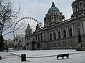 Fresh snow at the City Hall, Belfast - geograph.org.uk - 1650079.jpg