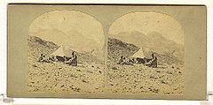 Frith, Francis (1822-1898) - Views in the Holy Land - n. 512 - Gebel Mousa (Sinai) from the Wady-es-Sebaiyeh.jpg