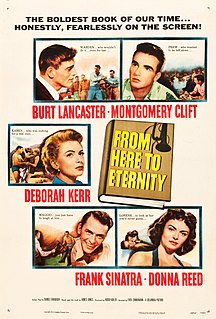 <i>From Here to Eternity</i> 1953 drama film based on the novel of the same name directed by Fred Zinnemann