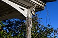 Front porch pole at farmhouse at Kelvin A. Lewis farm in Creeds 3.jpg