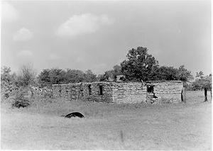 Fort Washita - South barracks before reconstruction