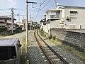 Fujisaki Line from platform of Fujisakigu-mae Station.jpg