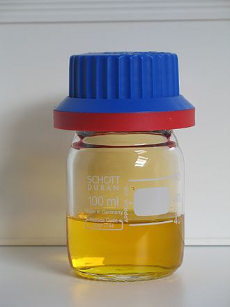 Nitrogen - Fuming nitric acid contaminated with yellow nitrogen dioxide