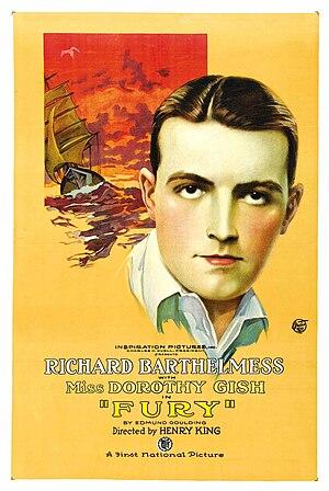Fury (1923 film) - 1923 lobby poster