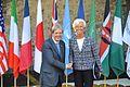 G7 Taormina Paolo Gentiloni Christine Lagarde handshake 2017-05-27.jpg