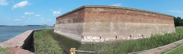 Panoramic view of Fort James Jackson