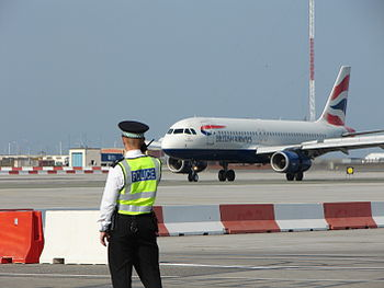 GB Airways aircraft landing at Gibraltar Airport.jpg
