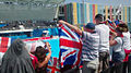 GB U17 Women's Team Fans at Baku 2015.jpg