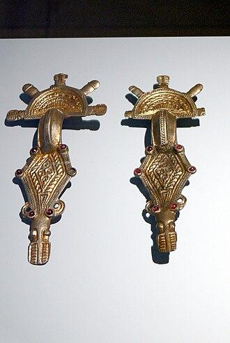 Ostrogoths - Ostrogothic bow-fibulae (c. 500) from Emilia-Romagna, Italy