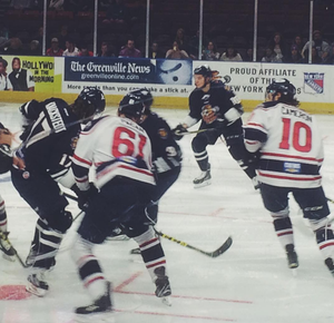 Greenville Swamp Rabbits - Greenville Swamp Rabbits vs. Florida Everblades in February 2016.