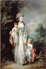 Mrs Elizabeth Moody with her sons Samuel and Thoma