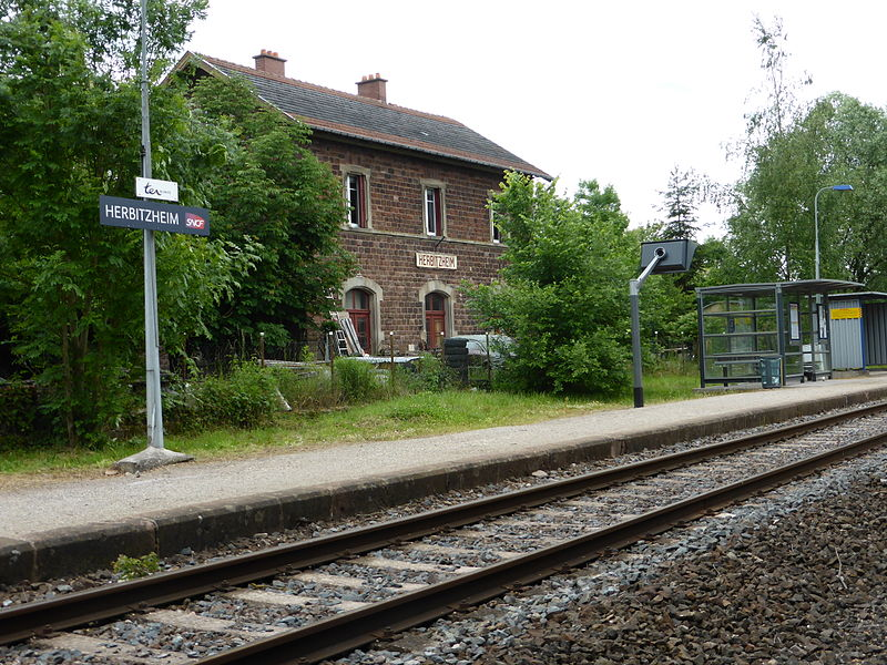 Train station of Herbitzheim (Bas-Rhin)