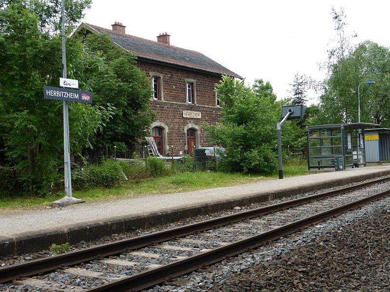 Train station of Herbitzheim (Bas-Rhin)