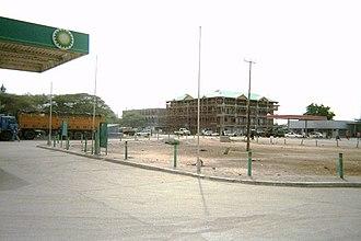 Garissa - A BP gas station in downtown Garissa.