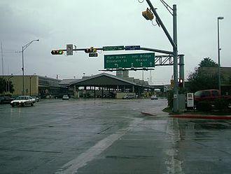 Gateway International Bridge - Gateway International Bridge as pictured from International Blvd. in Brownsville, Texas.