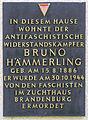 Gedenktafel Hämmerlingstr 99 (Köpe) Bruno Hämmerling.jpg