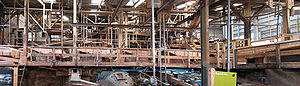 Geevor Tin Mine - Part of the interior of the ore processing mill, open to visitors