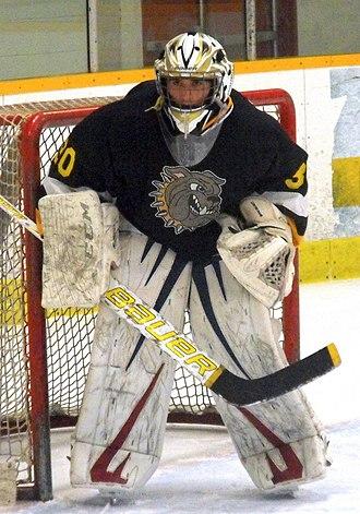 General Amherst High School - Bulldogs goalie during 2014-15 season.
