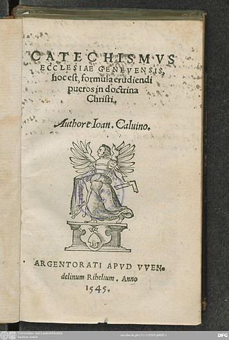 Catechism - Title page of 1545 edition of the Genevan Catechism