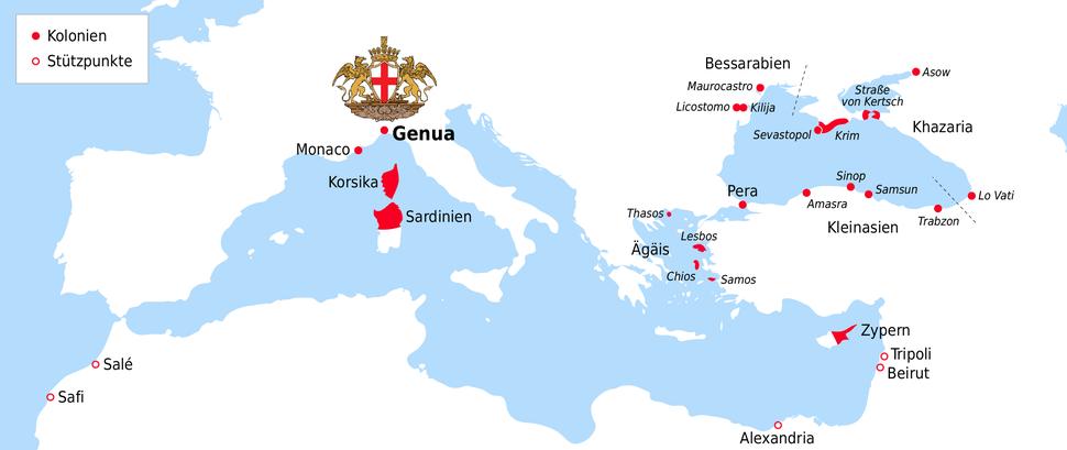 Location of Genoa