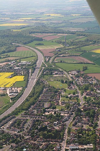 Stokenchurch - Image: Geograph 3478216 Stokenchurch to Stokenchurch radio mast aerial by Chris