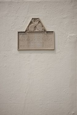 Photo of George Canning grey plaque